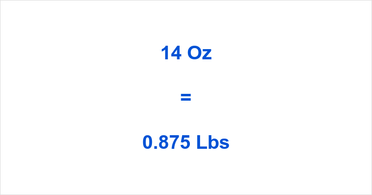 14 Oz to Lbs | How many Pounds is 14 Ounces? | oztolbs.com