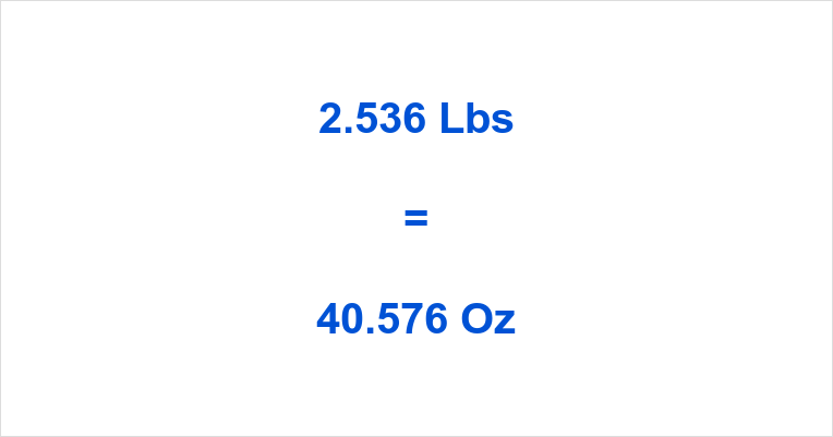 2 536 Lbs To Oz How Many Ounces Is